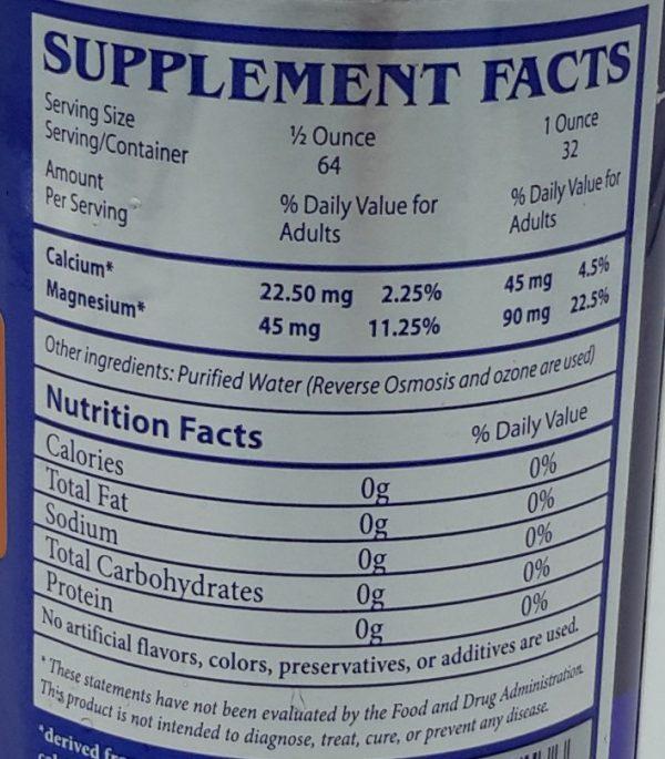 Calcium Magnesium Label